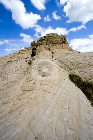 Looking up the Sandstones in Snow Canyon - Utah stock photo, Snow Canyon in St. George, Utah - Sandstones by Mehmet Dilsiz