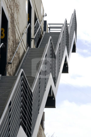 Metal Stairs Going Up stock photo, Metal Stairs Going Up at an Agnle by Mehmet Dilsiz