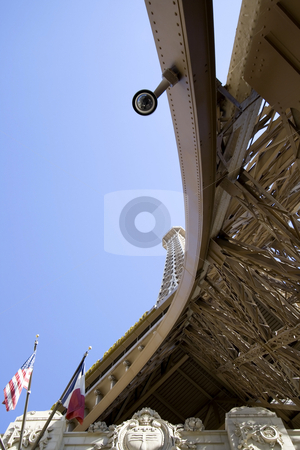 Unique Perspective on the Replica of Eiffel Tower stock photo, Unique Perspective on the Replica of Eiffel Tower in Las vegas by Mehmet Dilsiz