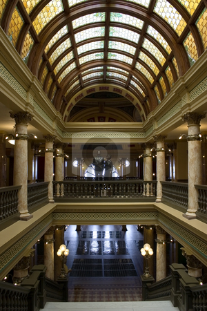 Capital Building Interior View stock photo, Interior View of the Capital Building in Helena Montana by Mehmet Dilsiz