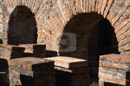 Roman Ruins of Pisoes stock photo, Ruins of the roman villa of Pisoes near Beja, Alentejo, Portugal by Manuel Ribeiro