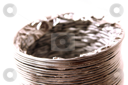 Isolated Dryer Vent Hose stock photo, Isolated Dryer Vent Hose on White Background by Mehmet Dilsiz
