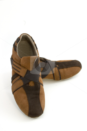 Isolated Modern Brown Sports Shoes stock photo, Isolated Close up of a Modern Brown Sports Shoes by Mehmet Dilsiz