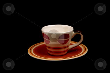 Isolated Turkish Coffee Mug stock photo, Isolated Turkish Coffee Mug black background by Mehmet Dilsiz