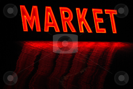 Market sign stock photo,  by Kristine Keller