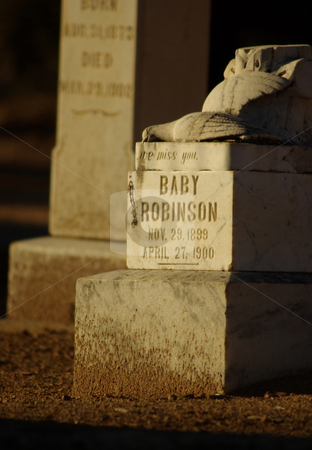 An Infant's Grave stock photo, The grave of an infant in an