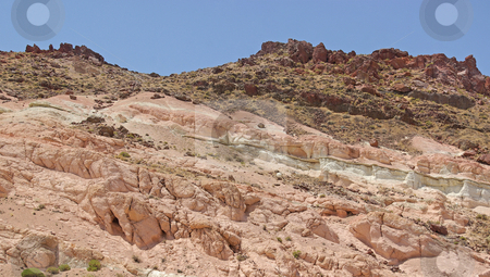 Rock Formations 1 stock photo, Red rock formations in the Mojave Desert, California. by Kristine Keller