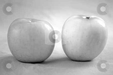 Black and White Apples 2 stock photo,  by Kristine Keller