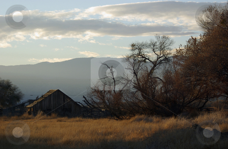 Barn at Sunset stock photo,  by Kristine Keller
