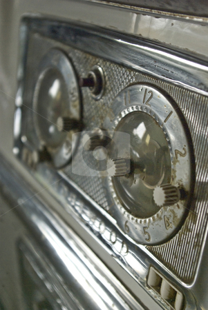 Vintage Oven 2 stock photo, The timer on an oven made in the 1950s. by Kristine Keller