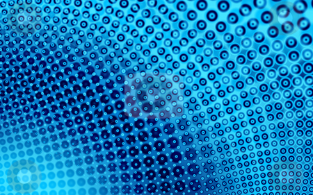 Fractal17d stock photo, Abstract Backgound in blue with a circles theme, generated from a fractal design. by Germán Ariel Berra