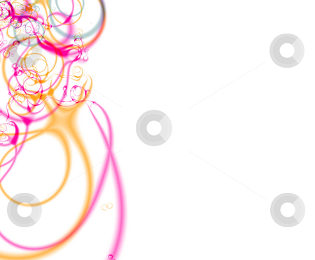 Fractal04e stock photo, Abstract organic fractal background, with space for text on the right. by Germán Ariel Berra