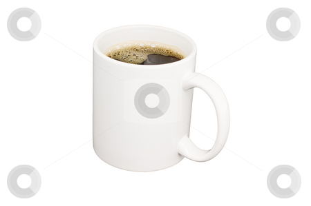 Coffee Cup stock photo, Cup of black coffe isolated on white background with clipping path by Stephen Meese