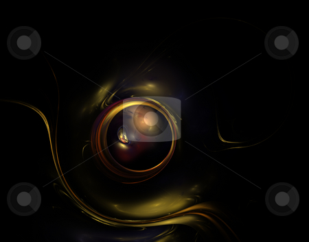 Watch stock photo, Background illustration - abstract colorful eye on black by J?
