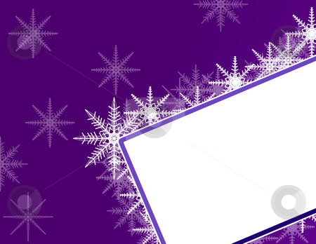 Christmas Background with Label  stock photo, Christmas Background with Label and Snowflakes by Mehmet Dilsiz