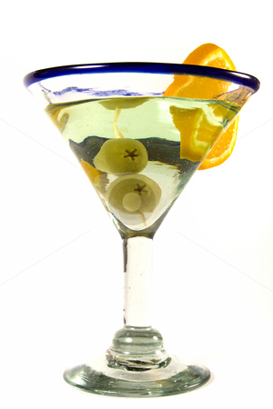 Isolated Martini Glass stock photo, Martini Glass - Isolated on White Background by Mehmet Dilsiz