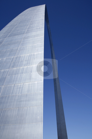 Close up on The Arch at St. Louis stock photo, The Arch at St. Louis - Close up Abstract Perspective by Mehmet Dilsiz