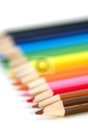 Coloring Pencils - Shallow DOF stock photo, Colored Pencils with shallow DOF by Mehmet Dilsiz