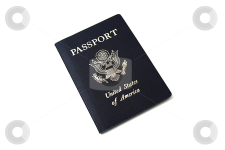 Isolated Passport stock photo, Isolated Unites States of America Passport by Mehmet Dilsiz