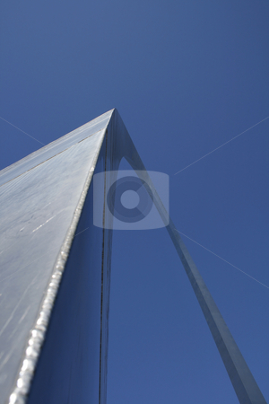 The Arch at St. Louis stock photo, The Arch at St. Louis with Sun Shining in Between by Mehmet Dilsiz