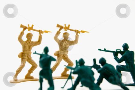 Surrender - Concept Shot of Plastic Soldiers stock photo, Isolated Plastic Toy Soldiers - Surrender by Mehmet Dilsiz