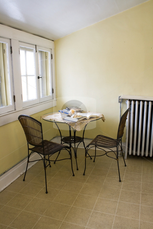 Attic Room stock photo, Close up on an Attic Room with Chairs and a Table by Mehmet Dilsiz