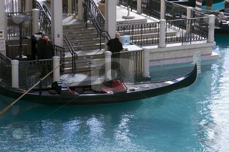 Master Gondola stock photo, Master Gondola in the Venetian Hotel, Las Vegas by Mehmet Dilsiz