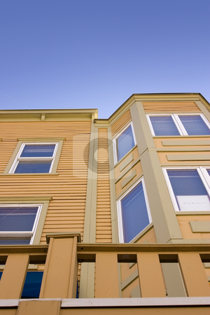 Close up on a Building with Clear Skies stock photo, Close up on a Building in Park City, Utah by Mehmet Dilsiz