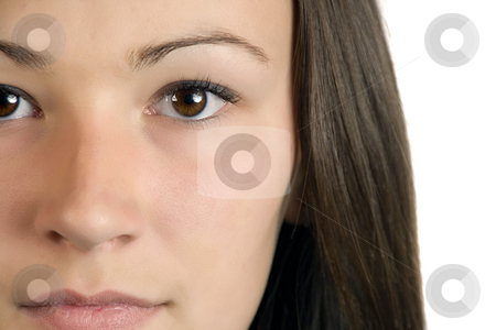 Teenager Close up - Isolated stock photo, Close up on a Teenager Girl - Isolated by Mehmet Dilsiz