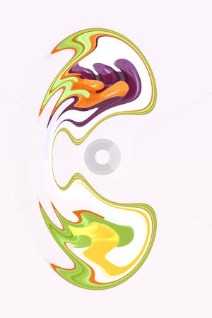 Digital Abstract Art - Ear 2  stock photo, Abstract Red Ear - 2 by Mehmet Dilsiz