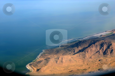 Overlooking at Salt Lake City stock photo, Aerial Shot of Salt Lake City by Mehmet Dilsiz