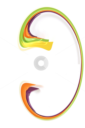 Digital Abstract Art - Ear 3 stock photo, Abstract Red Ear 3 by Mehmet Dilsiz