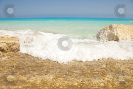 The MediTerranean stock photo, The North-Coast of Egypt, the seashore of The Mediterranean Sea. by Amr Hassanein