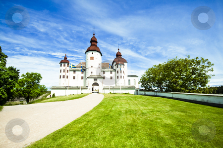 Old castle stock photo, Old swedish castle in white lime by Fredrik Elfdahl