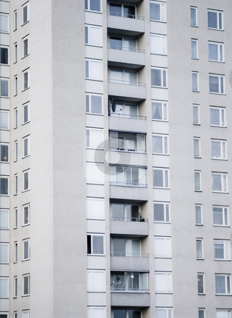 Apartments stock photo, Tall house with apartments ad balconies by Fredrik Elfdahl