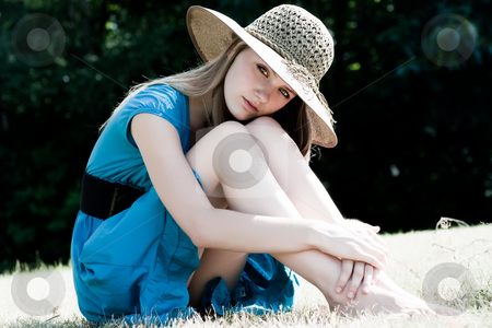 Sweet beauty girl stock photo, Teenage girl in fresh and happy mood outside in the park by Frenk and Danielle Kaufmann