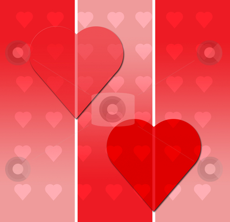 Valentines Day Postcard stock photo, Valentines Day Postcard with Hearts by Mehmet Dilsiz