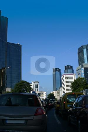 Traffic Jam stock photo, Traffic Jam in Downtown by Mehmet Dilsiz
