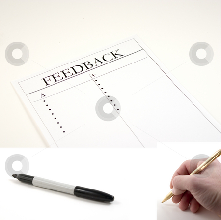 Feedback Paper - (marker and hand with pen included to be pasted stock photo, Feedback Paper - hand with pen and marker included separately.  Feeback Paper dimension 3020x2048... Hand with pen dimension 1000x990, Marker dimension 1700x760 by Mehmet Dilsiz
