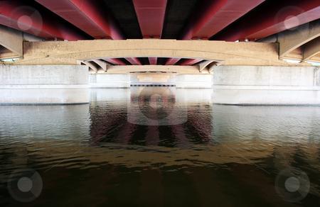 Underneath stock photo, Bridge is located in Wichita, Kansas by Margaret Roew