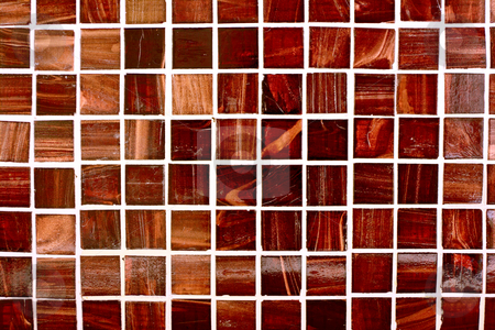 Tiles stock photo, Small, modern tiles with a deep color and natural pattern. by Martin Darley