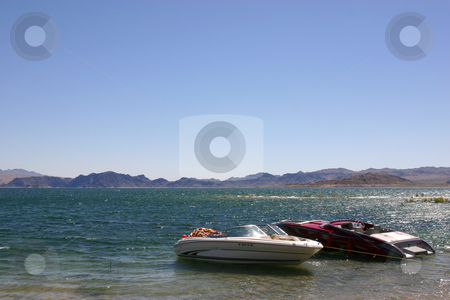 Lake mead stock photo, Boats on Lake mead by Mehmet Dilsiz