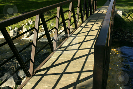 Close up on a Bridge in a Park stock photo, Close Up - Bridge in a Park by Mehmet Dilsiz