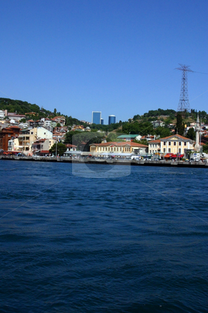 Looking at the Asian Side of Istanbul stock photo, Bosphorus, Istanbul... Looking at the City from the Water by Mehmet Dilsiz