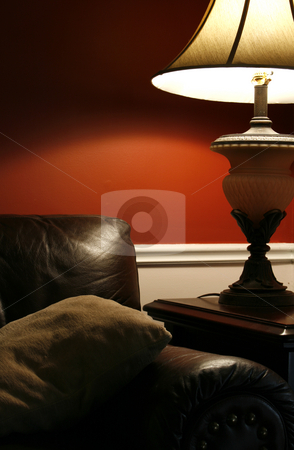lamp and the couch vertical shot stock photo close up on a lamp and. Black Bedroom Furniture Sets. Home Design Ideas
