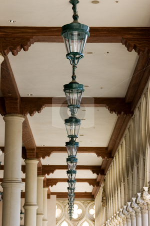 Italian Style Ceiling Lamps in a Row in Venetian , Las Vegas stock photo, Italian Style Ceiling Lamps in a Row in Venetian , Las Vegas Nevada by Mehmet Dilsiz