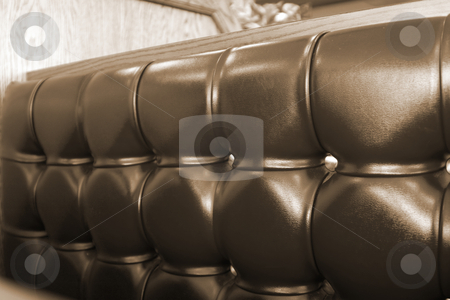 Close up on a Restaurant Booth stock photo, Close up on the cushions of a Fast Food Restaurant by Mehmet Dilsiz