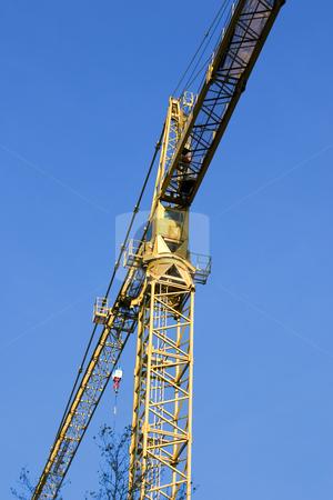 Construction site stock photo, Construction Site Crane by Mehmet Dilsiz