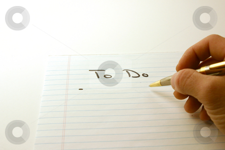 To Do - Notepad & Pen stock photo, To Do - Notepad & Pen Isolated by Mehmet Dilsiz