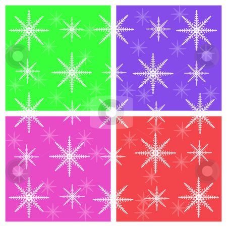 Snowflake background for Postcards stock photo, Multi color Snowflake background for Postcards by Mehmet Dilsiz